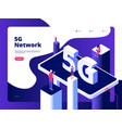 5g concept smartphone broadcaster technology vector image vector image