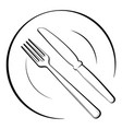 Abstract logo of a cafe or restaurant a spoon and