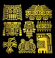 american golden ancient totems vector image vector image