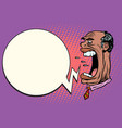 angry boss screaming the giant head african vector image vector image