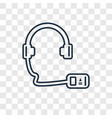 audio guide concept linear icon isolated on vector image