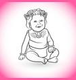 baby wearing crown vector image vector image