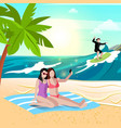beach vacation holidays composition vector image vector image