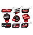 black friday tag market sale tags shopping sales vector image