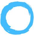 Blue brushstroke circular shape