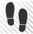 boot footprints eps icon vector image vector image