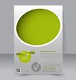 Brochure design Flyer template Editable A4 poster vector image vector image