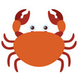 brown crab on white background vector image vector image