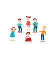 bullying of child boy sitting alone flat vector image vector image
