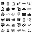 business work icons set simple style vector image vector image