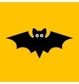 Cartoon Bat on Orange Background vector image vector image