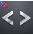 Code icon symbol 3D style Trendy modern design vector image