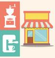coffee shop machine maker image vector image