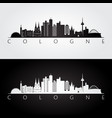 cologne skyline and landmarks silhouette vector image vector image