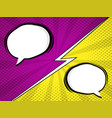 comic book pop art with blank speech bubble vector image vector image