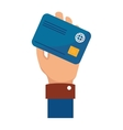 credit card isolated icon vector image vector image