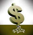 dollar sign sucking up question marks vector image vector image