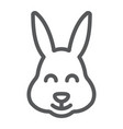 easter bunny line icon animal and easter easter vector image vector image