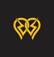 energy bolt linked design logo vector image vector image