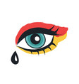 eye with makeup rock theme vector image