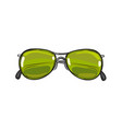fashionable green sunglasses isolated vector image vector image
