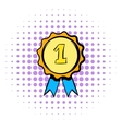 First place rosette icon comics style vector image vector image