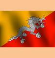 flag of bhutan vector image vector image