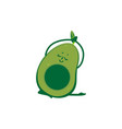 flat avocado doing stretching or yoga vector image