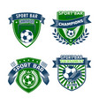 football sport bar icons of soccer balls vector image vector image