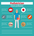 future profession pediatrician infographic vector image vector image