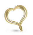 gold heart swirly outline icon vector image