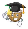 graduation cocktail coconut character cartoon vector image vector image