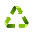 Green recycle logo sign isolated on white vector image