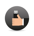 hand holding device icon vector image vector image