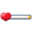 heart level for game decoration vector image