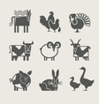 home animal set icon vector image vector image