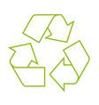 icon of recycle symbol - residue utilization vector image vector image