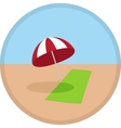 icon symbol of summer time vector image