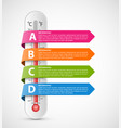 infographics thermometer with multi-colored vector image