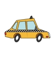 Isolated taxi design vector image vector image