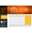 june 2019 desk calendar for 2019 year design vector image vector image