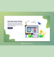 landing page template online education modern vector image vector image