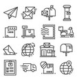 line post service icons set on white vector image vector image