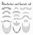 man hair mustache beards collection isolated vector image vector image