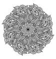 mandala hand drawn backdrop for coloring vector image