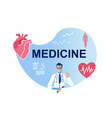 medical healthcare and heart protection poster