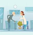 medicine for elderly geriatrics old man vector image