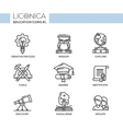 Modern school and education thin line design icons vector image vector image