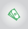 money icon template design vector image