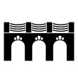 old arch bridge icon simple black style vector image vector image